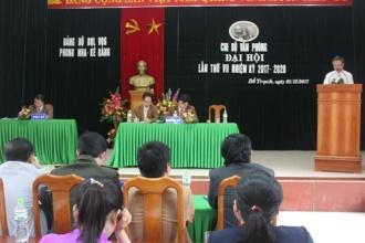 Chi bộ Văn phòng BQL VQG Phong Nha - Kẻ Bàng tổ chức ĐH lần thứ VII-nhiệm kỳ 2017- 2020
